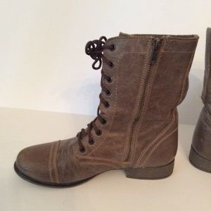 Steve Madden Shoes - Steve Madden Troopa Boots Brown leather Lace Up 8